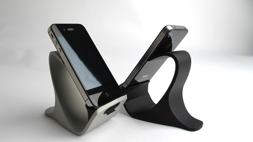 Cool CNC machined iPhone dock , designed for manufacturability