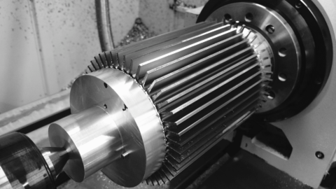 4th-Axis CNC Machining heat exchanger, nickel
