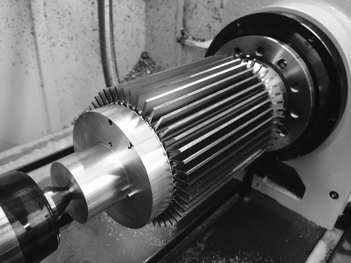 4th-Axis CNC Machining heat exchanger, nickel at Parametric Manufacturing