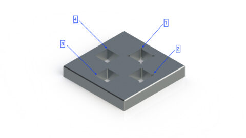 3D model showing how to design reliefs for sharp internal corners - Parametric Manufacturing