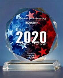 Voted Best Machine Shop 2020 - Parametric Manufacturing