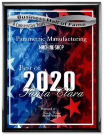 Voted Best Machine Shop 2020 - Parametric Manufacturing